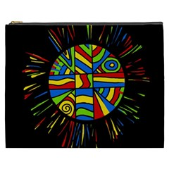 Colorful Bang Cosmetic Bag (xxxl)  by Valentinaart