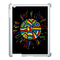 Colorful Bang Apple Ipad 3/4 Case (white) by Valentinaart
