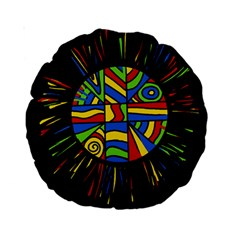 Colorful Bang Standard 15  Premium Round Cushions by Valentinaart