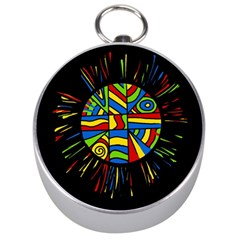 Colorful Bang Silver Compasses by Valentinaart