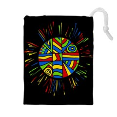 Colorful Bang Drawstring Pouches (extra Large)