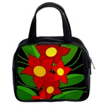 Red flowers Classic Handbags (2 Sides) Front