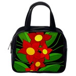 Red flowers Classic Handbags (2 Sides) Back