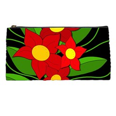 Red Flowers Pencil Cases by Valentinaart