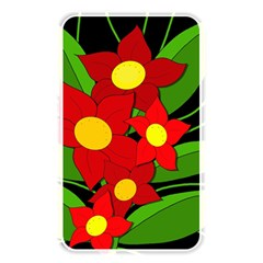 Red Flowers Memory Card Reader