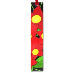 Red Flowers Large Book Marks by Valentinaart