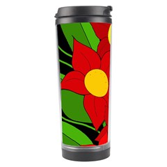 Red Flowers Travel Tumbler