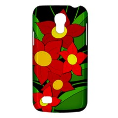 Red Flowers Galaxy S4 Mini by Valentinaart