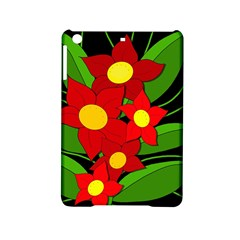 Red Flowers Ipad Mini 2 Hardshell Cases by Valentinaart