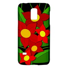 Red Flowers Galaxy S5 Mini by Valentinaart