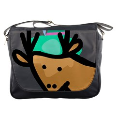 Deer Messenger Bags by Valentinaart