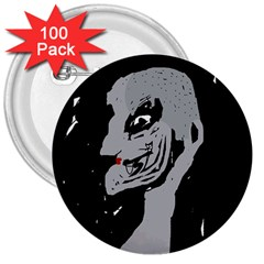 Horror 3  Buttons (100 Pack)  by Valentinaart