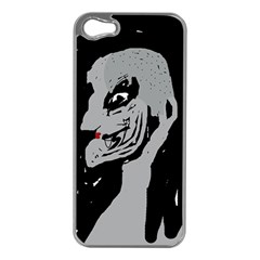 Horror Apple Iphone 5 Case (silver) by Valentinaart