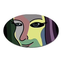 Lady Oval Magnet by Valentinaart