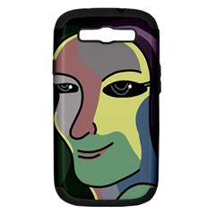 Lady Samsung Galaxy S Iii Hardshell Case (pc+silicone) by Valentinaart