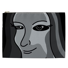 Lady   Gray Cosmetic Bag (xxl)  by Valentinaart