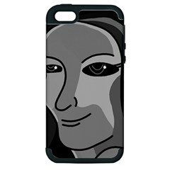 Lady   Gray Apple Iphone 5 Hardshell Case (pc+silicone) by Valentinaart