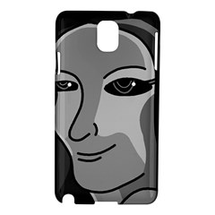 Lady   Gray Samsung Galaxy Note 3 N9005 Hardshell Case by Valentinaart