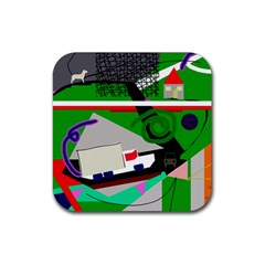 Trip Rubber Square Coaster (4 Pack)  by Valentinaart