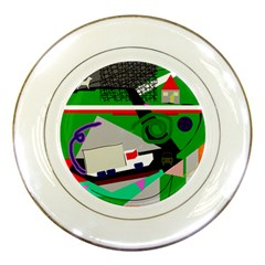 Trip Porcelain Plates by Valentinaart