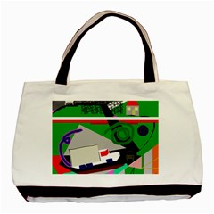 Trip Basic Tote Bag (two Sides) by Valentinaart