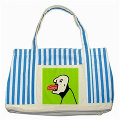 Protrusion  Striped Blue Tote Bag by Valentinaart