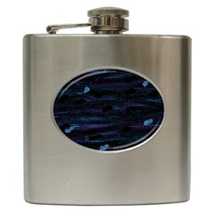 Blue Moonlight Hip Flask (6 Oz) by Valentinaart