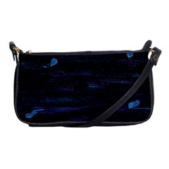 Blue Moonlight Shoulder Clutch Bags by Valentinaart