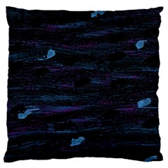 Blue Moonlight Large Cushion Case (two Sides) by Valentinaart