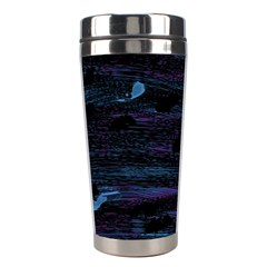 Blue Moonlight Stainless Steel Travel Tumblers by Valentinaart