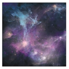 Blue Galaxy Large Satin Scarf (square)