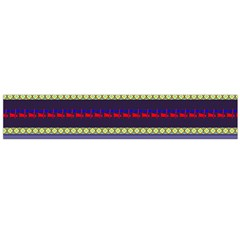 Colorful Retro Geometric Pattern Flano Scarf (large) by DanaeStudio