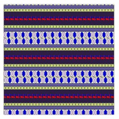Colorful Retro Geometric Pattern Large Satin Scarf (square)