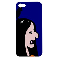 Girl And Bird Apple Iphone 5 Hardshell Case by Valentinaart