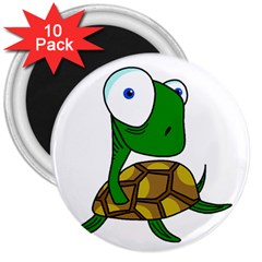 Turtle 3  Magnets (10 Pack)  by Valentinaart