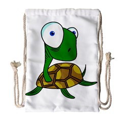 Turtle Drawstring Bag (large) by Valentinaart