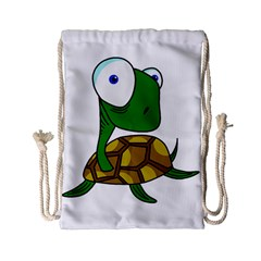 Turtle Drawstring Bag (small) by Valentinaart