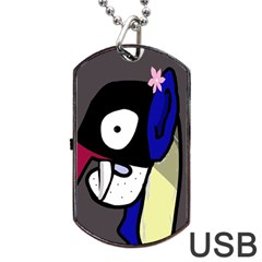 Monster Dog Tag Usb Flash (one Side) by Valentinaart
