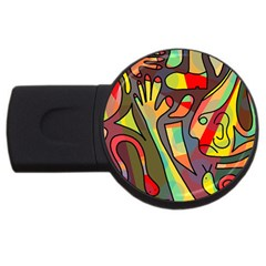 Colorful Dream Usb Flash Drive Round (2 Gb)  by Valentinaart