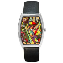 Colorful Dream Barrel Style Metal Watch by Valentinaart