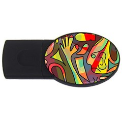 Colorful Dream Usb Flash Drive Oval (4 Gb)  by Valentinaart