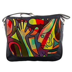 Colorful Dream Messenger Bags by Valentinaart