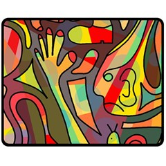 Colorful Dream Double Sided Fleece Blanket (medium)  by Valentinaart