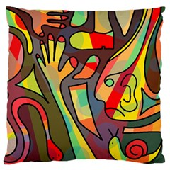 Colorful Dream Standard Flano Cushion Case (one Side) by Valentinaart