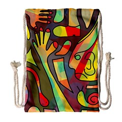 Colorful Dream Drawstring Bag (large) by Valentinaart
