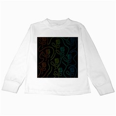 Floral Pattern Kids Long Sleeve T-shirts by Valentinaart