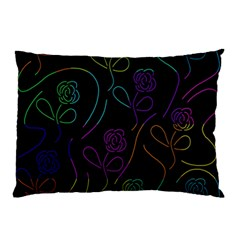 Flowers - Pattern Pillow Case by Valentinaart