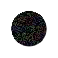 Colorful Pattern Magnet 3  (round) by Valentinaart
