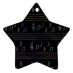 Music Pattern Ornament (star)  by Valentinaart