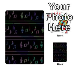 Music Pattern Multi Purpose Cards (rectangle)  by Valentinaart